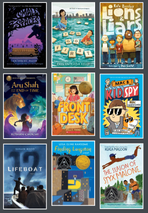 Book covers from 2019-2020 Battle of the Books title list
