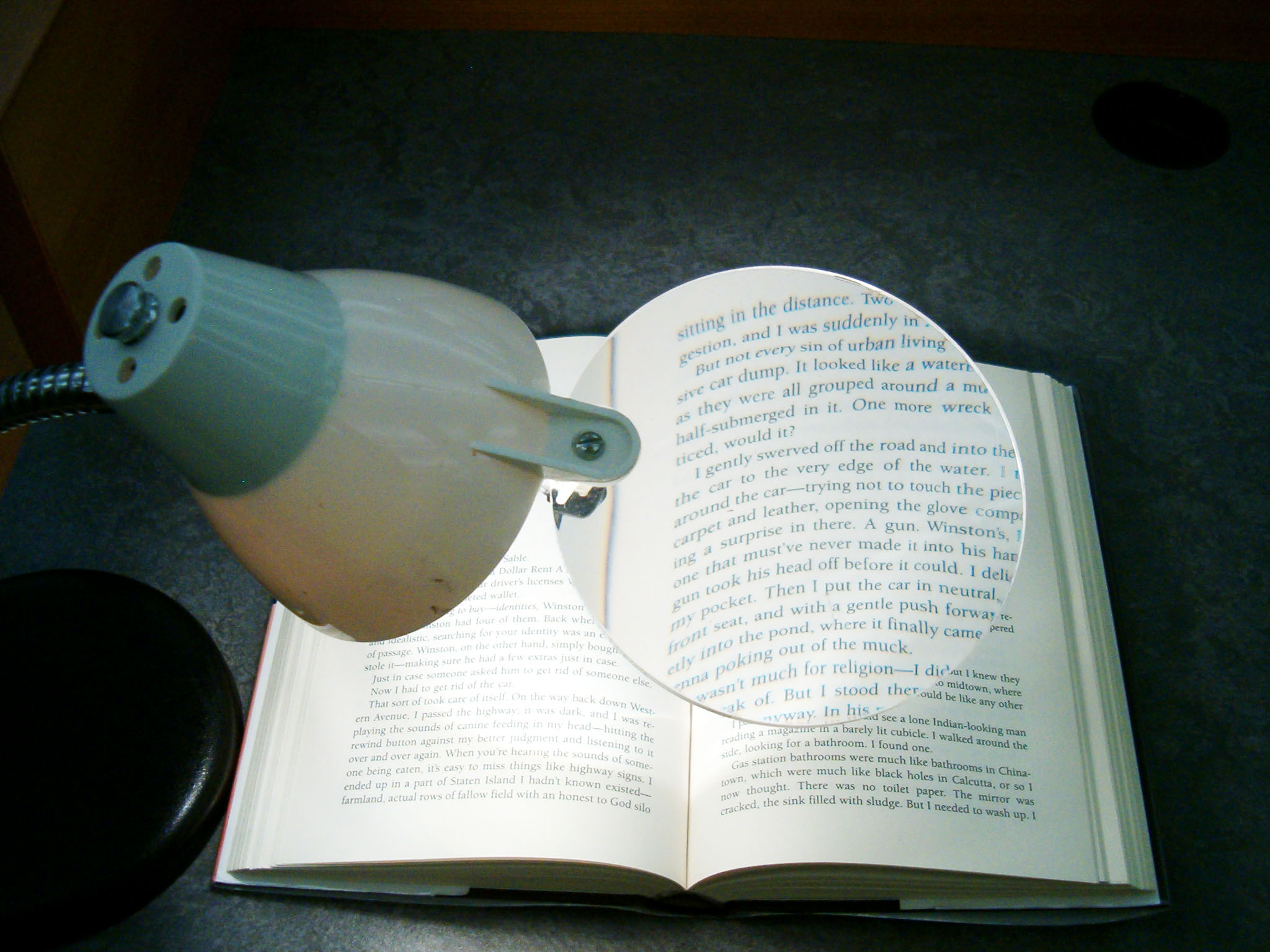 High-Intensity Magnifier Lamp with Add-On Lens