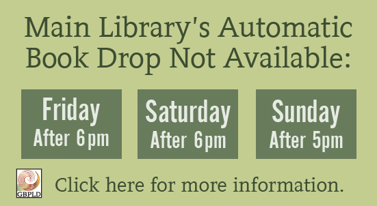 Automatic Book Drop Availability This Weekend